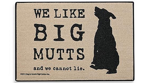 mutt door mat gift for dog lovers